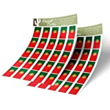 Desert Cactus Syria Country Flag Sticker Decal Variety Size Pack 8 Total Pieces Kids Logo Scrapbook Car Vinyl Window Bumper Laptop V