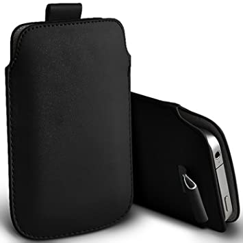 the latest b70bb dc73e i-Tronixs (Black) Pouch case for Alcatel 2008G case Premium Stylish Faux  Leather Pull Tab Pouch Skin case cover To Choose From