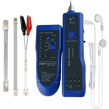 Wire Tracker, RJ11 RJ45 Line Finder Cable Tester for Network LAN ...