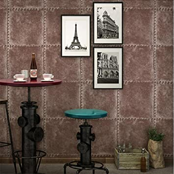 Tapete Retro Industrie Stil PVC Nachahmung Metall Textur kreative ...