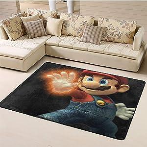 Home Bedroom Carpet,Mario Area Rug Anti Slip W47xL71 inch