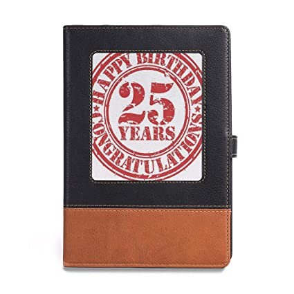 Vintage Writing Notebook Diary25th Birthday DecorationsA561quot X 86quot