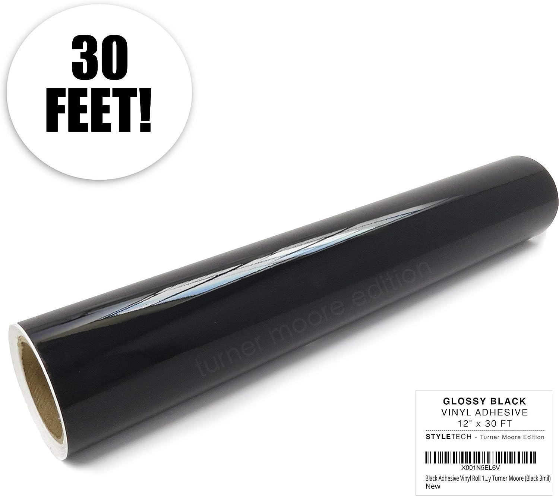 Negro vinilo adhesivo rollo 12