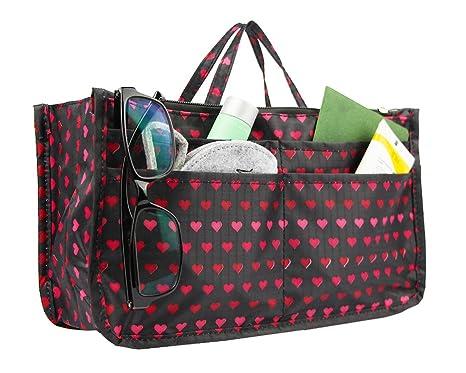 97600c61ee9b Buy Heat : Micom Cute Printing Expandable 13 Pocket Handbag Insert ...