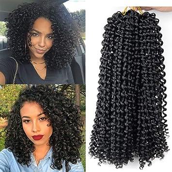 10 Inch Bohemian Hair Curly 6pcs Pack Kanekalon Synthetic Short Afro Kinky Curly Crochet Hair