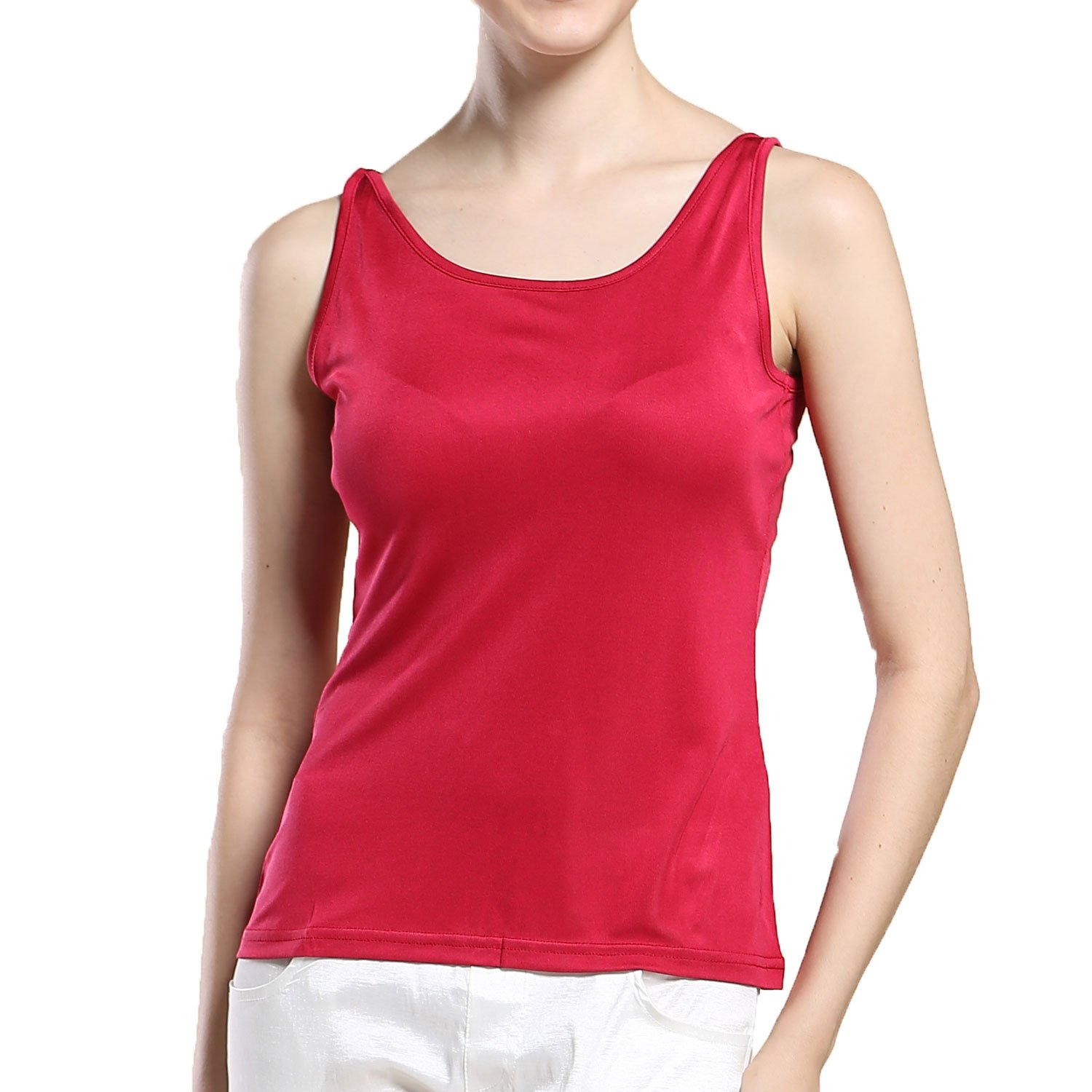 Paradise Silk Pure Silk Knit Narrow Shoulder Tank Top SKWNTTOP