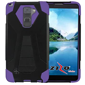 Zizo Hybrid Turbo Cover For LG Stylo 2 Plus MS550 Heavy Duty Dual Layer Rugged Shell