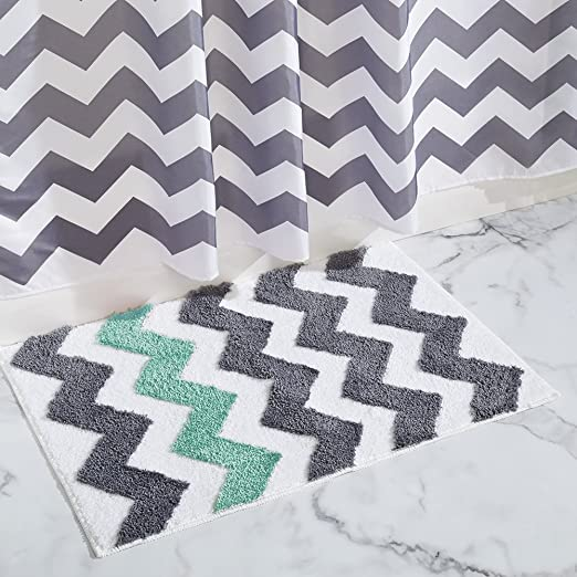 Buy InterDesign Microfiber Chevron Rug 34 X 21 Inch Gray Aruba By Online At Low Prices In India