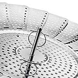 "Wishwin Vegetable Steamer Basket Rack Foldable Legs Petals Extendable Plastic Handle Stainless Steel 9"" Instant Pot Pressure Cooker DIY Food Kitchen"