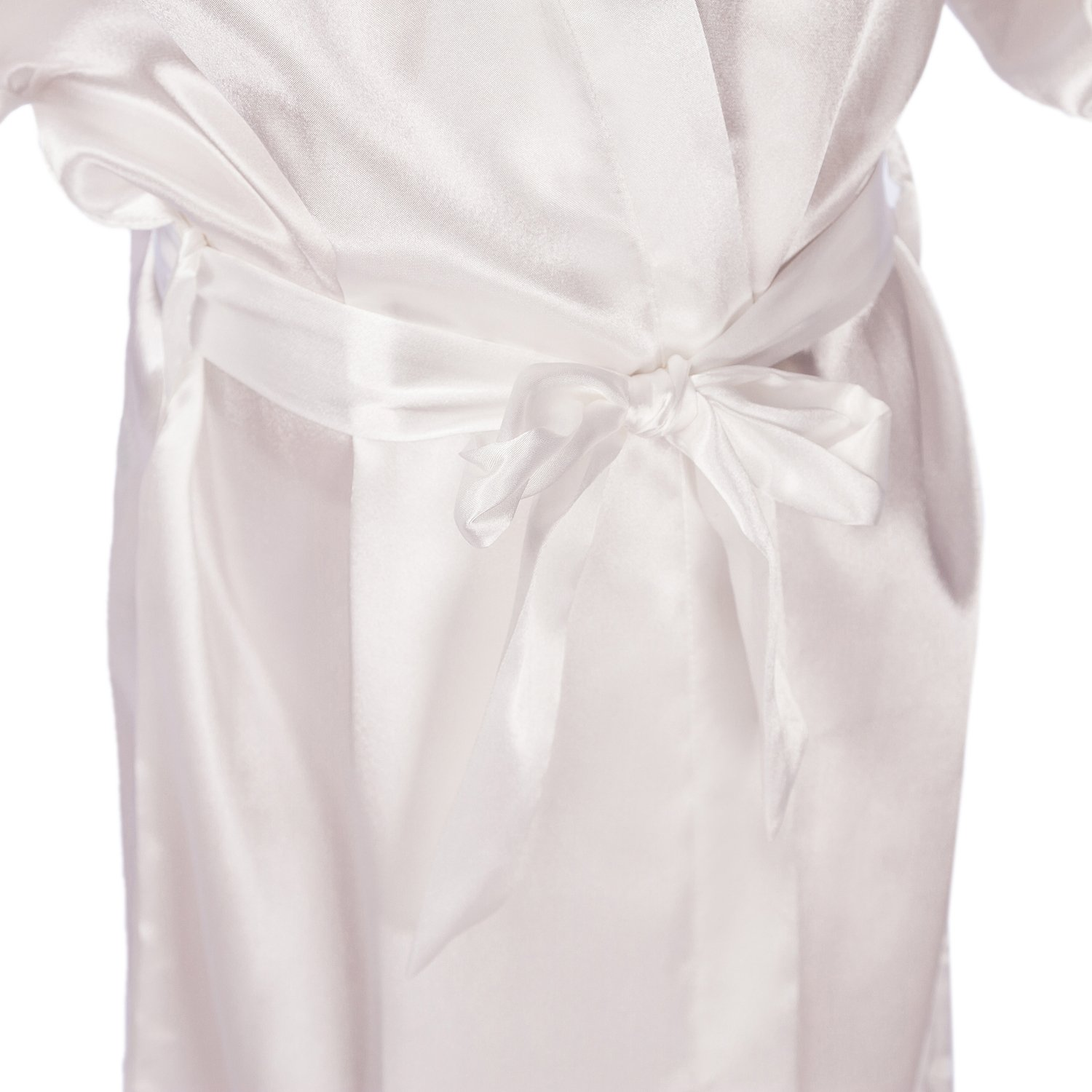 SexyTown Flower Girl Robes Satin Nightgown Wedding Party Getting Ready Robe with Gold Glitter