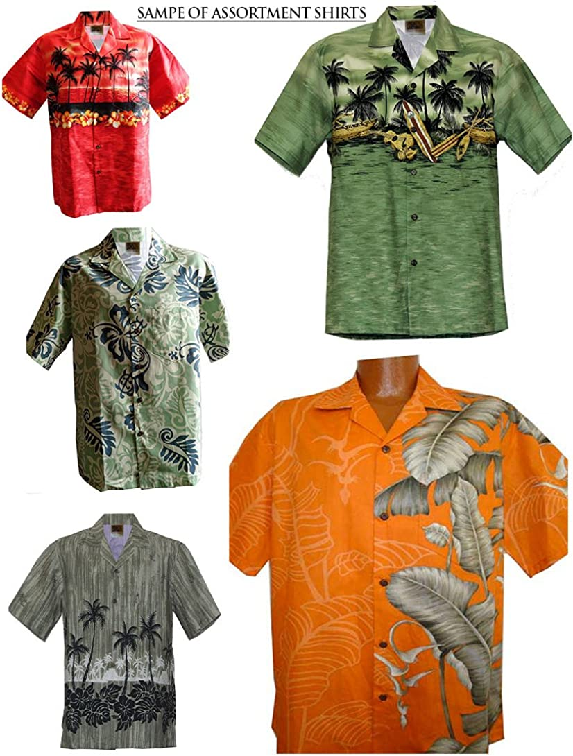 WinnieFashion Hawaiian USA 100/% Cotton Sleek Straight Coconut Aloha Shirts/