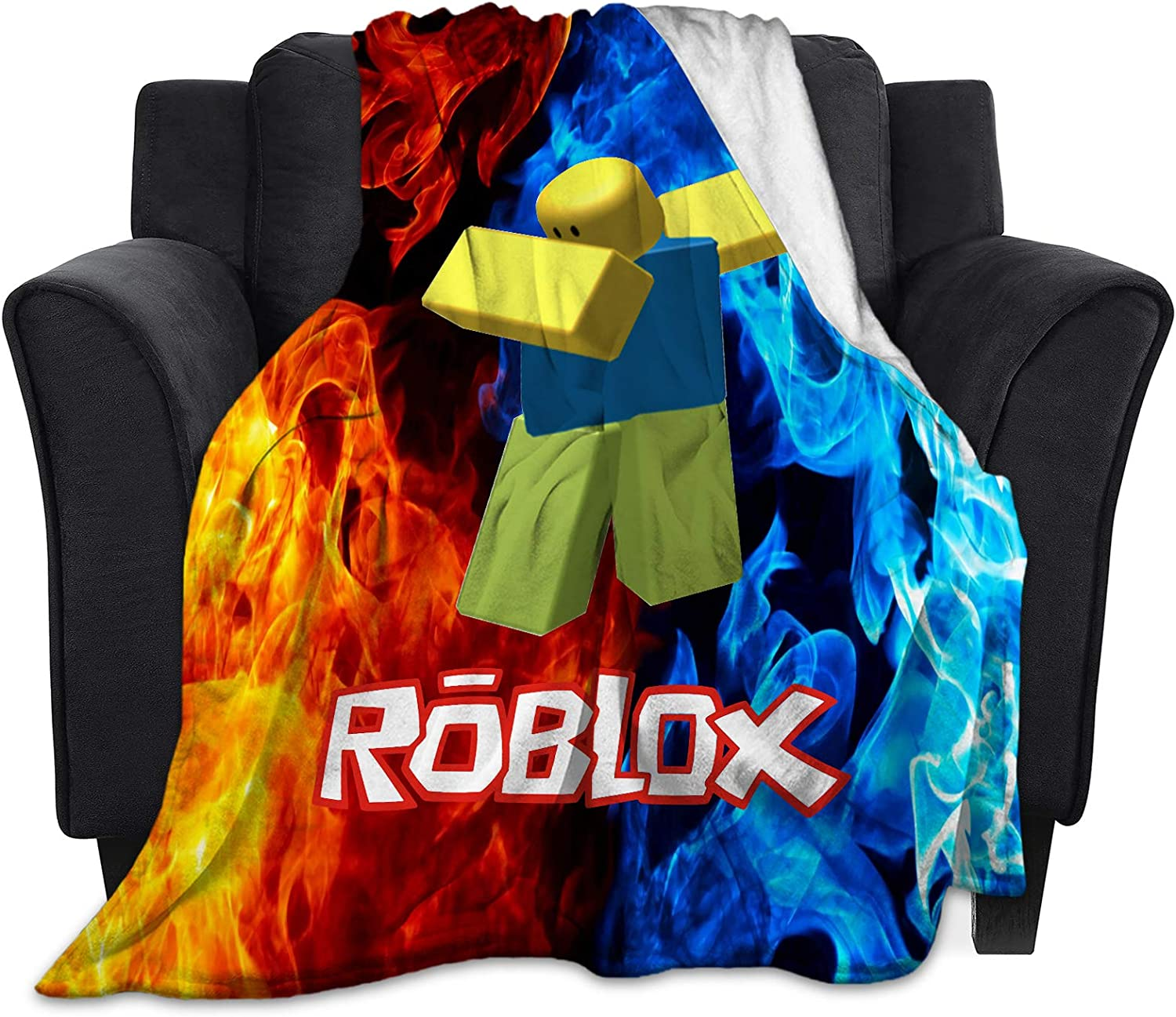 """Reneealsip R-O-blox Home Fleece Throw Blankets for Couch Bed Sofa Cozy Warm Ultra-Soft Blanket 60""""X50"""""""