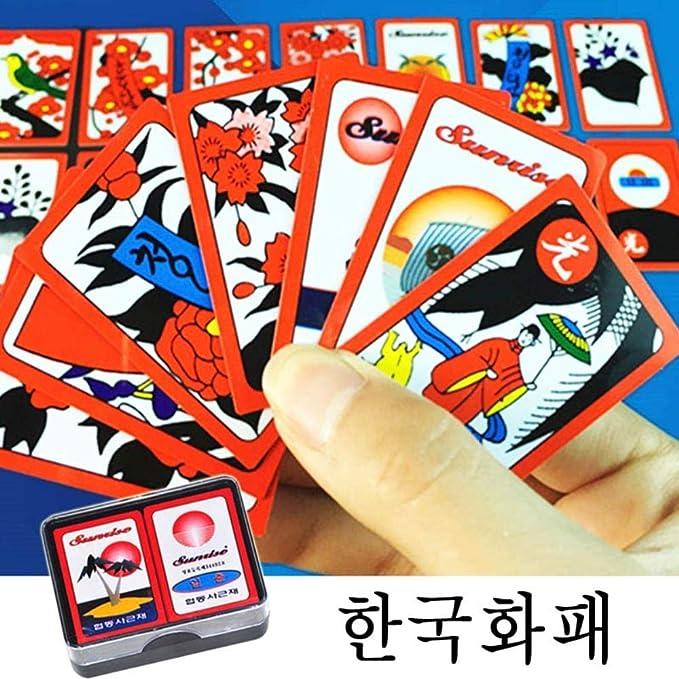 SEESEE.U Coreano japonés PVC Impermeable Mahjong Gostop Go Stop Tarjetas de Juego de Mesa Popular Family Party Table Game Go-Stop Cards: Amazon.es: Hogar