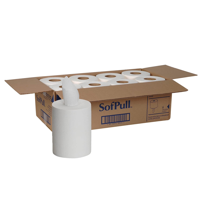 Georgia-Pacific SofPull Centerpull Junior Capacity Paper Towel by GP PRO, White, 28125, 275 Sheets Per Roll, 8 Rolls Per Case