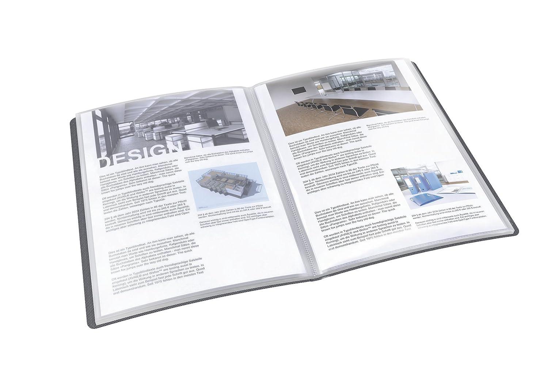schwarz A4, PP, fester Einband, 20 H/üllen Esselte 623986 VIVIDA Sichtbuch