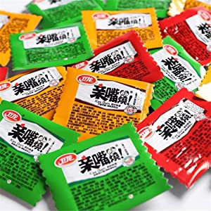 Wei Long Latiao, QinZuiShao 卫龙 亲嘴烧 Chinese Special Snack Food: Wei Long Series Spicy Gluten 300g (30packs)