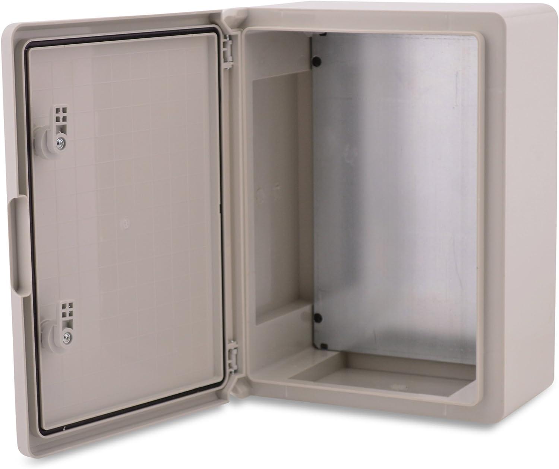 BOXEXPERT Caja de armario mural 350x250x150mm IP 65 gris RAL7035 Caja de distribución para armario de distribución