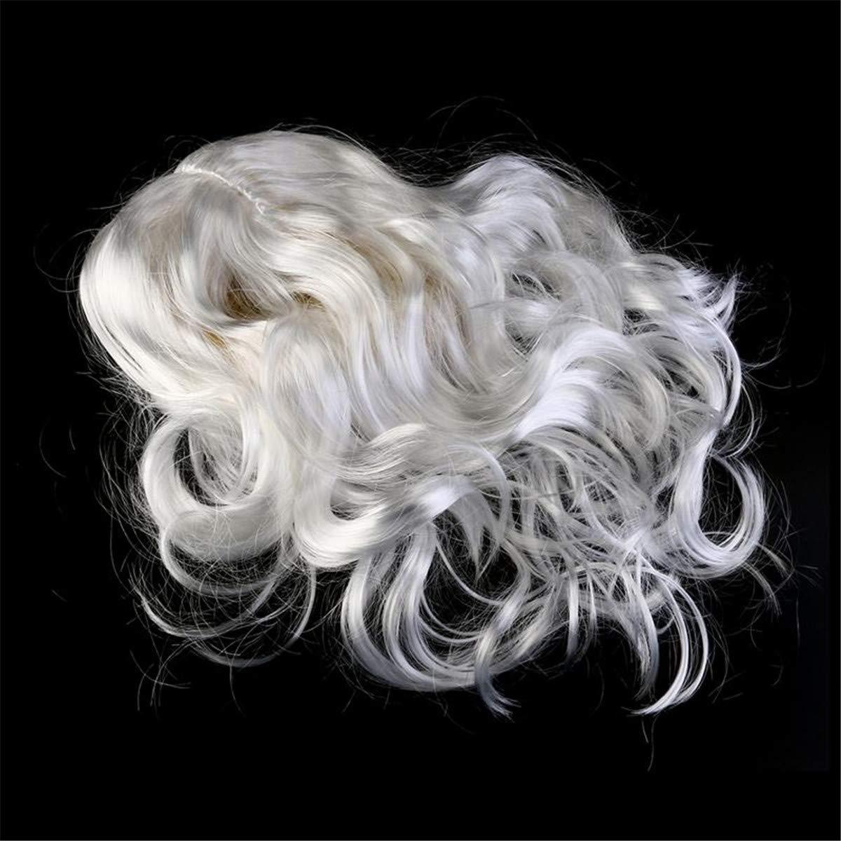 Queenbox Santa Wig Beard Set White