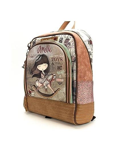 MOCHILA 40CM ESCOLAR ANEKKE SINTETICO TAUPE STORIES: Amazon.ca: Luggage & Bags