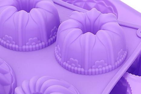 Fancy de silicona Bekith 6 Cavidad Molde Para Tartas, magdalenas tazas, cafetera para tartas, magdalenas, Brownie y Cornbread moho, juego de 2: Amazon.es: ...