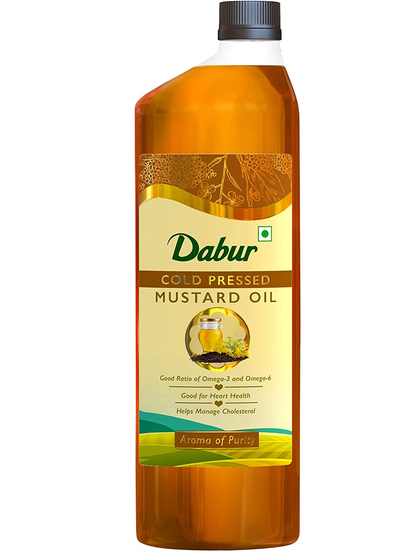 Dabur Cold Pressed Mustard Oil, 1L