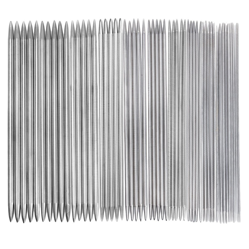 11 Sets of Double-Pointed Stainless Steel Knitting Needles 2.0-6.5mm --- 5pcs/per Set TOOGOO(R) VBPUKALIHAZA1074
