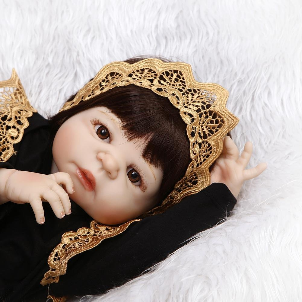 chinatera NPK Simulation Artificial Waterproof Soft Silicone Reborn Baby Dolls Lifelike Infants Girl Doll Toys for Photographic Prop by chinatera (Image #5)