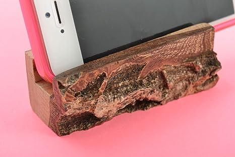 Sujetador para movil ecologico de madera artesanal original accesorio bonito