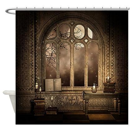 CafePress   Gothic Library Window Shower Curtain   Decorative Fabric Shower  Curtain (69u0026quot;x70u0026quot