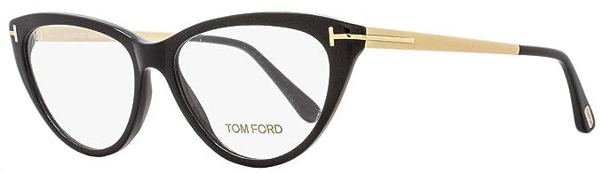 2e291e6f5d Amazon.com  Tom Ford Cateye Eyeglasses TF5354 001 Size  53mm Black ...
