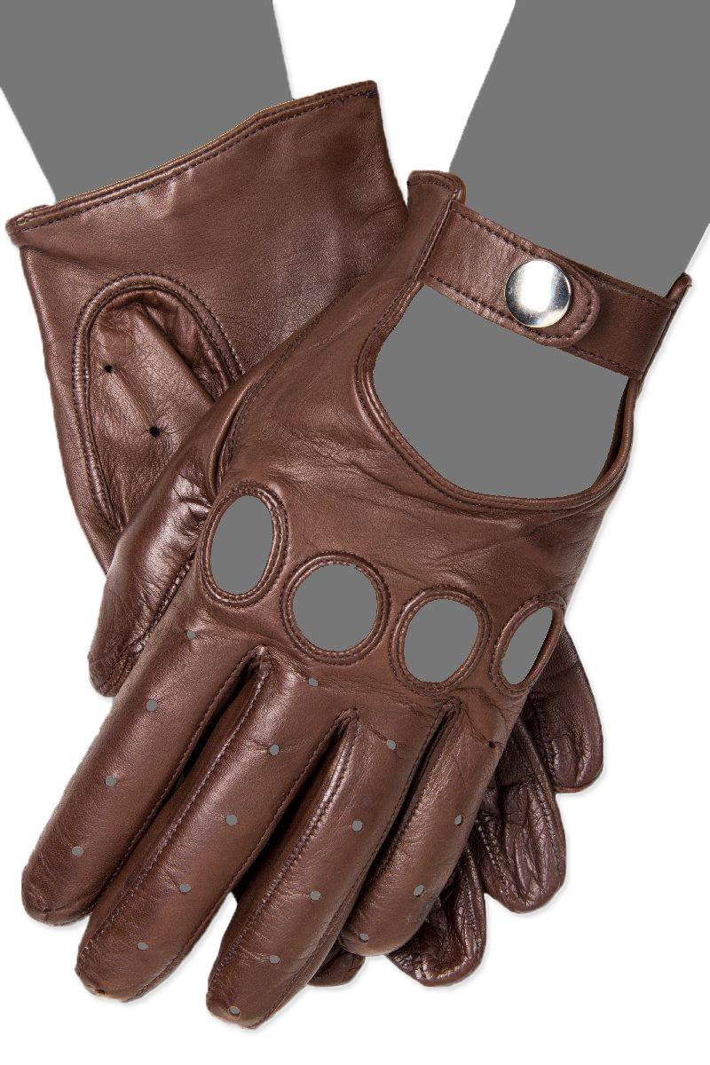 Gaspar Men's Driving Gloves (Featured in the Movie ''Drive'' Starring Ryan Gosling) (8, London Tan)