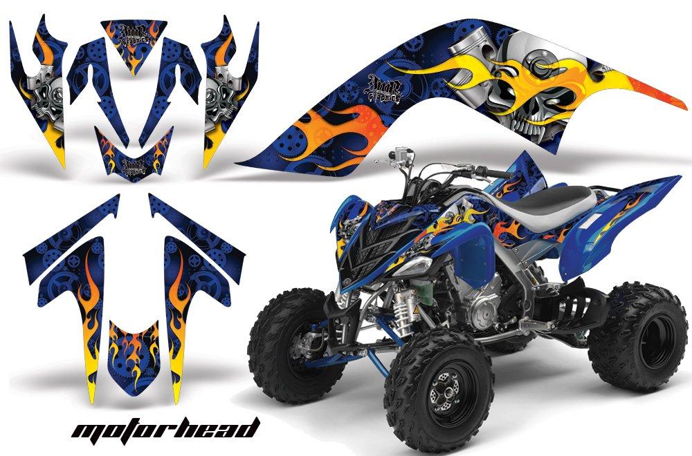 Yamaha Raptor 700 2006 – 2012 ATV全地形対応車AMRレーシンググラフィックキットデカールMotorheadブルー B079HCTD9Y