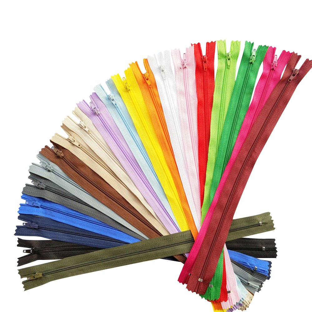 Chenkou Craft Upick color 20PCS nylon bobina cerniere Tailer Sewing Tools Craft colori assortiti 20lunghezza totale 44cm/43, 9cm (cerniera net lunghezza 40cm/39, 9cm) Yiwu Shi Juqian Trading Co. Ltd