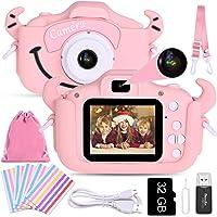 Faburo Cámara para Niños Juguete para Niños, Cámara Digital Selfie para Niños pequeños con Tarjeta de Memoria SD 32GB…