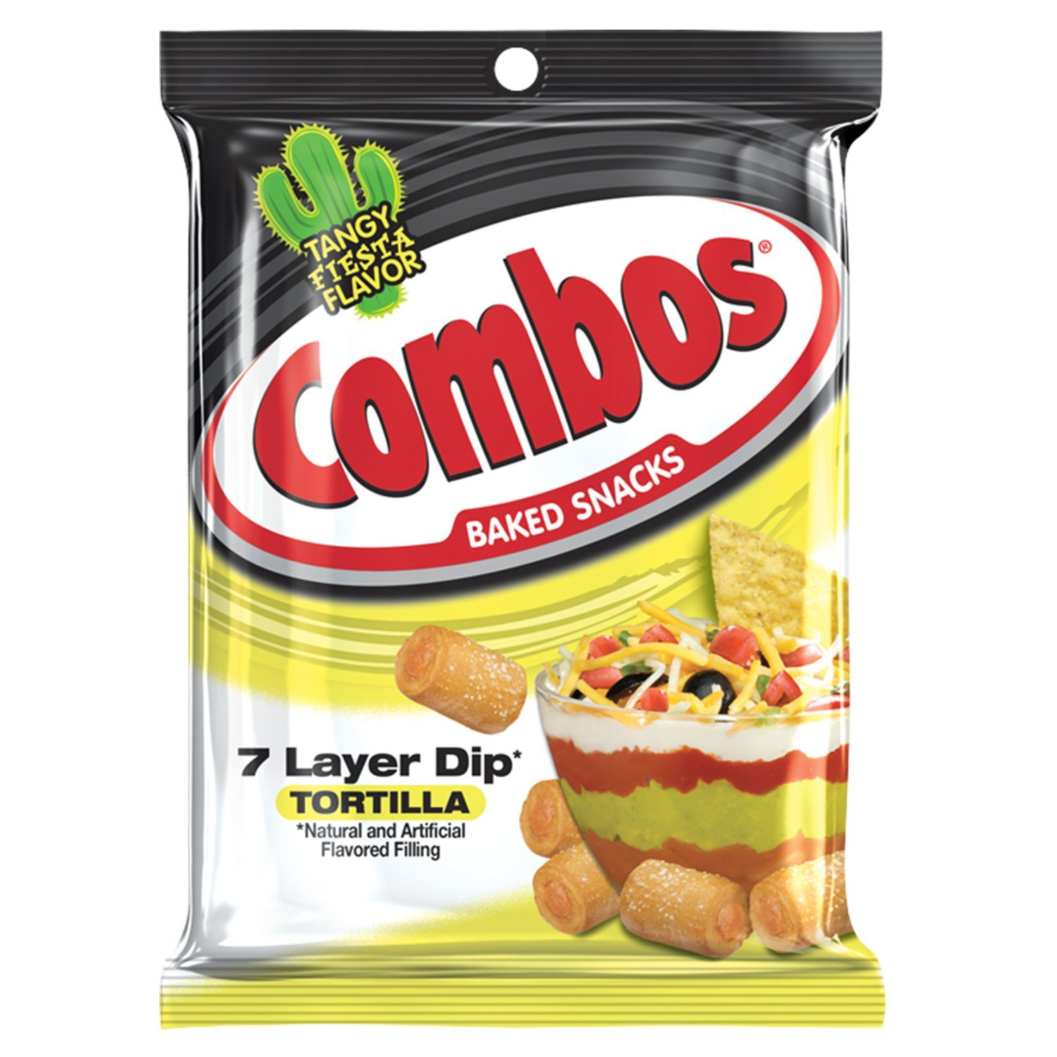 COMBOS 7 Layer Dip Tortilla Baked Snacks 6.3-Ounce Bag (Pack of 12)