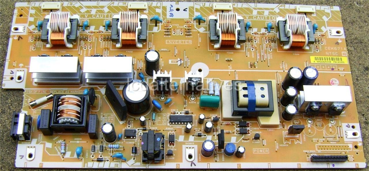 Sansui HDLCD3250E LCD TV Repair Kit, Capacitors Only, Not the Entire Board