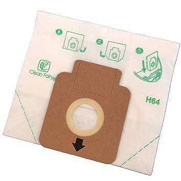 Clean Fairy - Bolsas de papel para aspiradoras tipo Hoover H58, H63, H64,