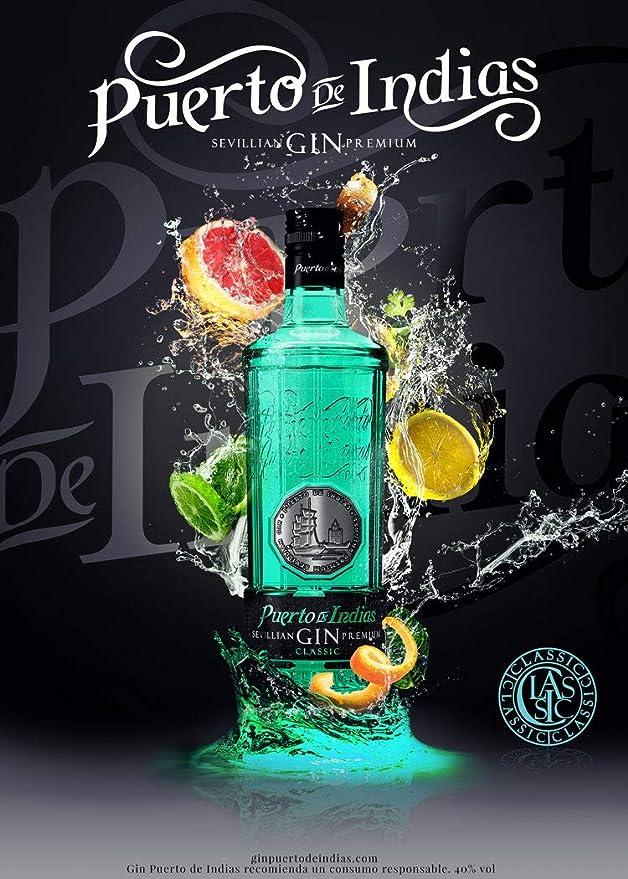 Ginebra Puerto de Indias Classic Gin, 70 cl