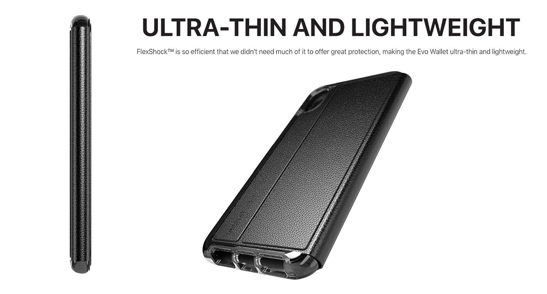 the latest b3821 da5de tech21 - Evo Wallet Case - for Apple iPhone Xs Max - Black
