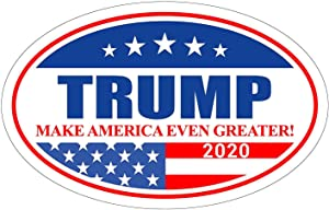 AODA Donald Trump 2020 Stickers for Car, Donald Trump Stickers and Decals 2020,Trump Bumper Sticker 2020, Oval Shaped Trump Car Magnets, Trump Bumper Stickers for Laptop Truck 5.53.5inch