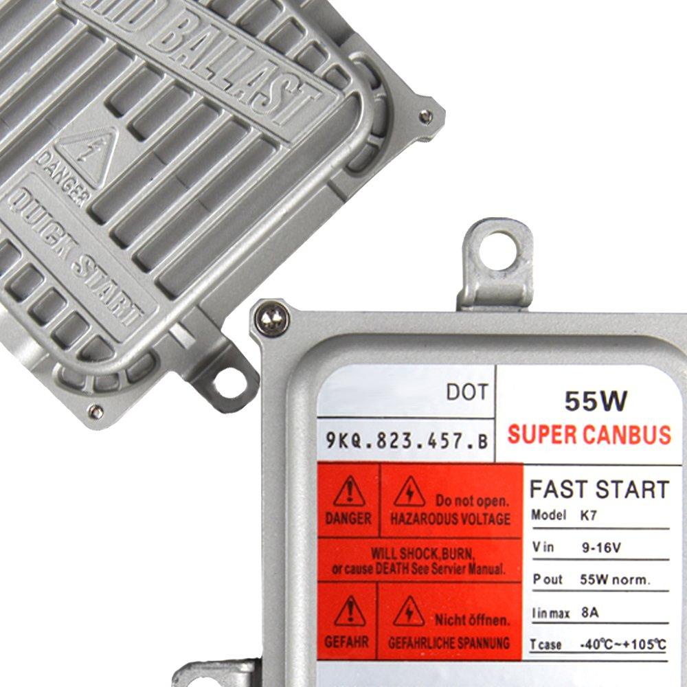 2 Year Warranty KOYOSO H1 Canbus Xenon HID Kit 55W Super Decoder Ballasts Fast Bright Auto Headlight Bulbs 5000K