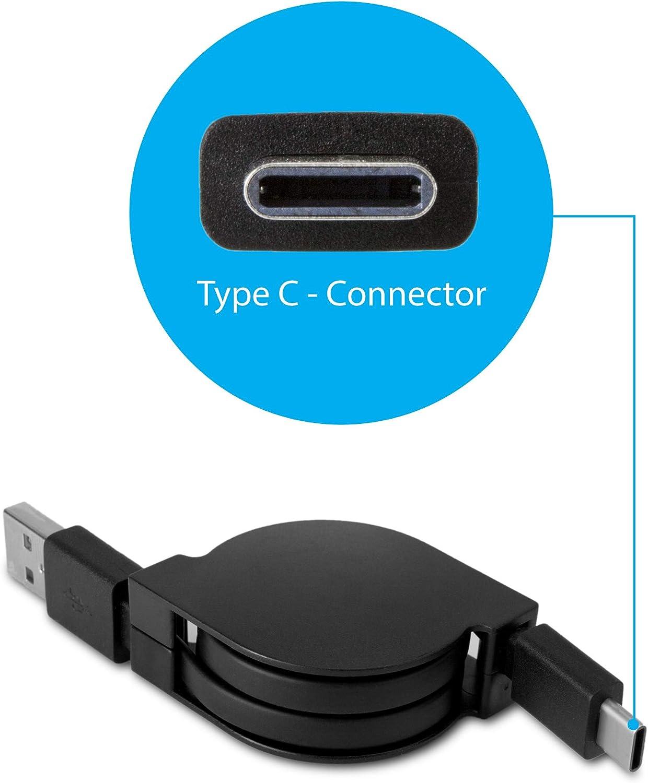 for HIDIZS AP80 BoxWave HIDIZS AP80 Cable Jet Black AllCharge 3-in-1 Cable