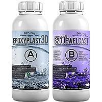 0,75 KG Epoxyhars EpoxyPlast 3D B20 JewelCast voor Hars Art I Ultra Diamond Clear I Uitstekende UV-bescherming I…