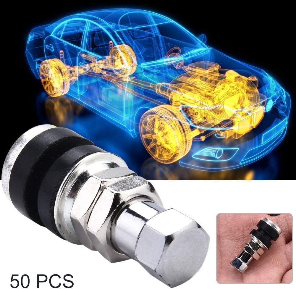50 st/ücke Universal Motorrad Fahrrad Auto Tubeless Vakuum Reifenventil D/üse Suuonee Reifenventil