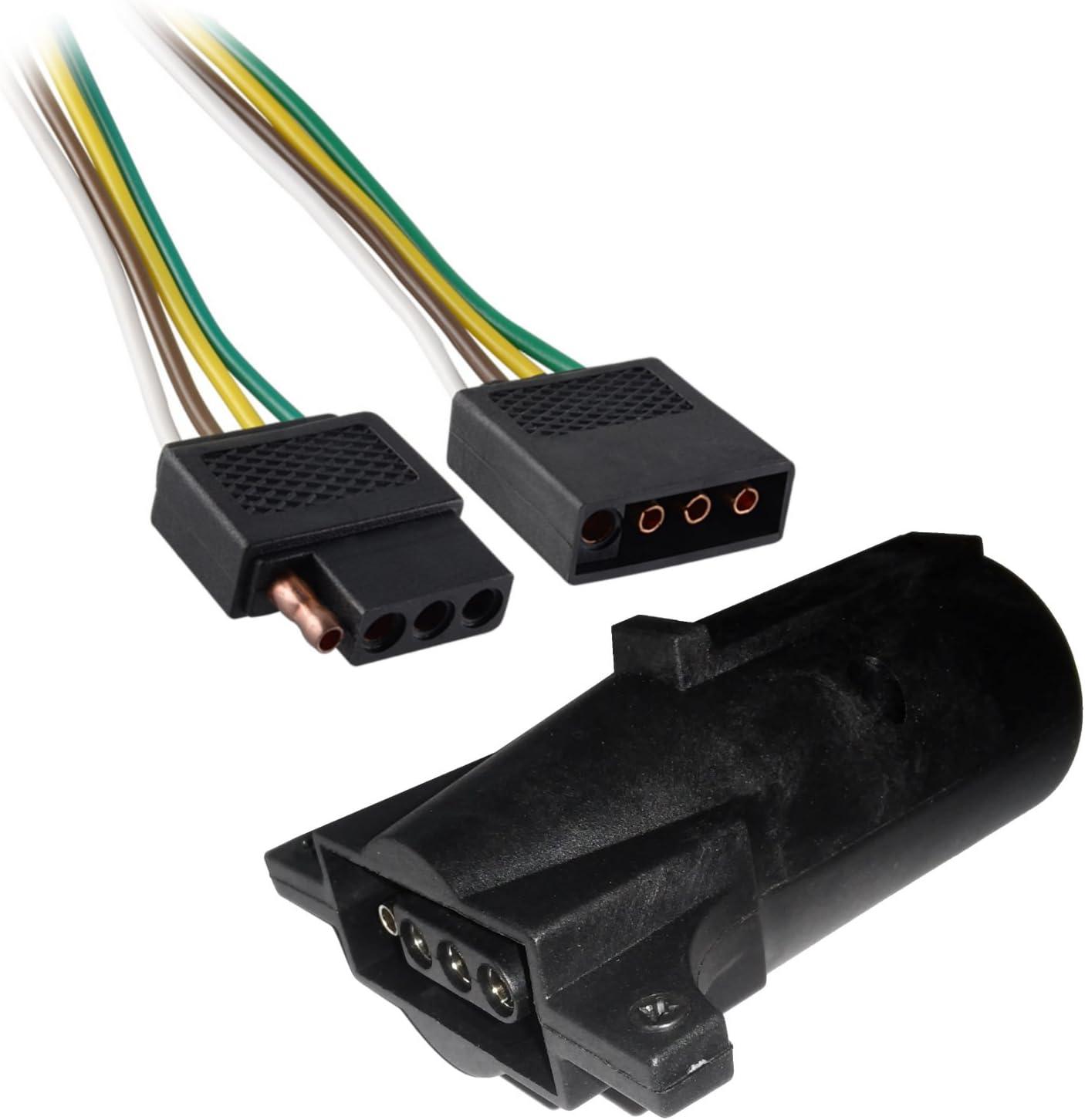 Amazon.com 400ft Trailer Light Wiring Harness 40 Pin Flat Plug Wire ...