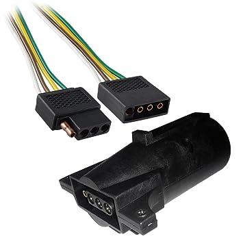 amazon com 6ft trailer light wiring harness 4 pin flat plug Automotive Wiring Harness