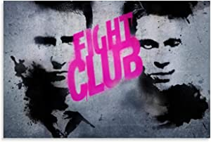 Fight Club Art Deco Canvas Print 24x36inch(60x90cm) Movie Poster for Home Wall Decor, No-Framed