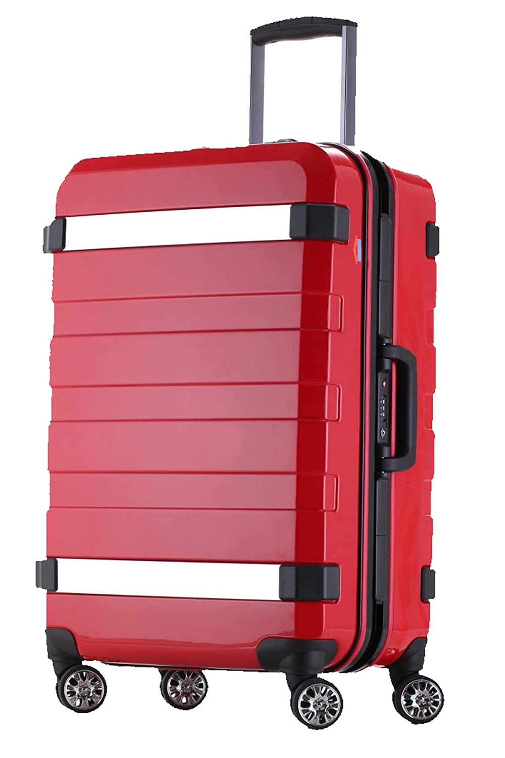 081c70e09cd Ambassador Luggage 25 inch Medium Trip Suitcase Spinner Travel Red ...