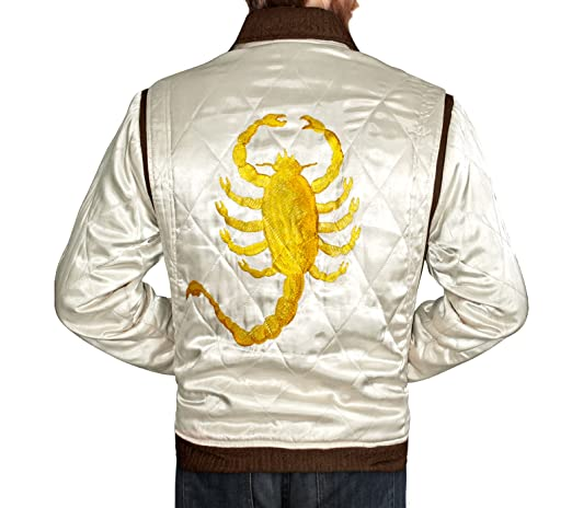 Drive Jacket with Golden Scorpion - Ryan Gosling Famous Scorpion Jacket