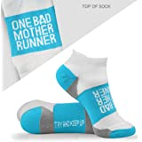 Inspirational Athletic Running Socks   Women's Woven Low Cut   Inspirational Slogans   Over 15 Styles